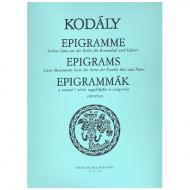 Kodály, Z.: Epigramme