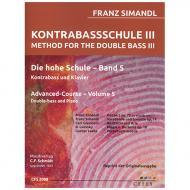 Simandl, F.: Kontrabassschule III – Die hohe Schule Band 5