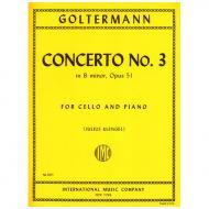 Goltermann, G.: Violoncellokonzert Nr. 3 Op. 51 h-moll
