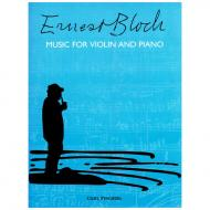 Bloch, E.: Music for violin and piano