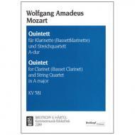 Mozart, W. A.: Klarinettenquintett KV 581 A-Dur