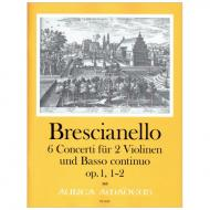 Brescianello, G. A.: 6 Concerti op. 1/1+2 (B-dur, G-dur)