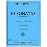 Beethoven, L. v.: 10 Violinsonatas (Oistrach)