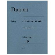 Duport, J.-L.: 21 Etüden für Violoncello