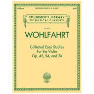 Wohlfahrt, F.: Collected Easy Studies Op.45, 54 und 74